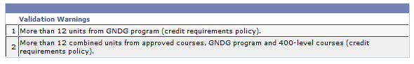 Screenshot of GradPath faculty validation