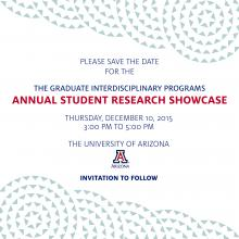 Save the Date Graphic: December 10,3:00 - 5:00 PM UA Campus