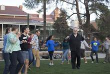 Image from Spring 2015 Dancing with the Dean event at Old Main