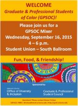Graduate & Professional Students of Color Flyer