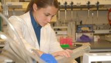Photograph of researcher in a lab